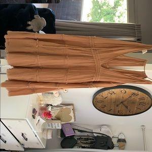 Tan loose dress